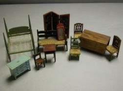 Miscellaneous Lot of Tynie-Toy Dollhouse Furniture