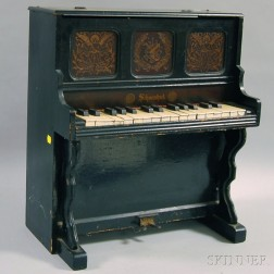 Schoenhut Black-painted Toy Piano