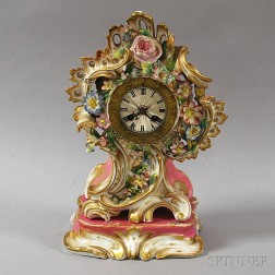 Limoges Porcelain Clock and Stand