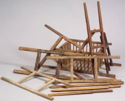 Eleven Wooden Cheese-making Items