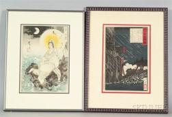 Two Prints by Yoshitoshi:   Moon of the South Sea