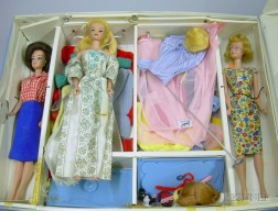 Group of Barbie Dolls, Cases, Clothes and Accessories