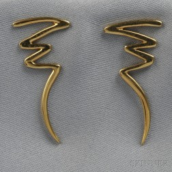 "18kt Gold ""Squiggle"" Earrings, Paloma Picasso, Tiffany & Co."