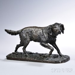 After Pierre-Jules Mêne (French, 1810-1879)       Bronze Figure of a Setter