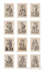 Hans Sebald Beham (German, 1500-1550)      The Twelve Apostles  /A Suite of Twelve Prints