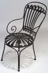 Black Bent Steel Garden Chair