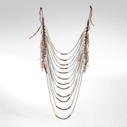 Northern Plains Beaded Hide and Commercial Leather Loop Necklace