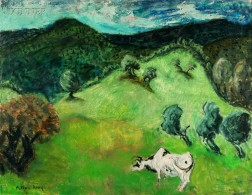 Milton Clark Avery (American, 1885-1965)      Landscape with Cow