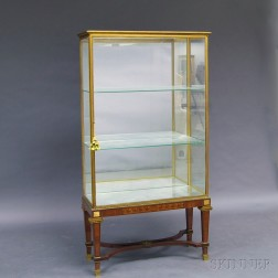 Ormolu-framed and Marquetry-inlaid Display Cabinet