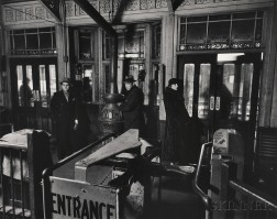 "Berenice Abbott (American, 1898-1991)      ""El"" Station: Sixth and Ninth Avenue Lines, Downtown Side"
