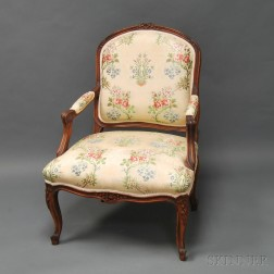 Louis XV-style Upholstered Fauteuil