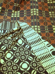Two Woven Wool Coverlets
