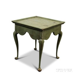 Queen Anne Green-painted Tea Table