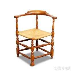 Queen Anne Turned Maple Corner Chair
