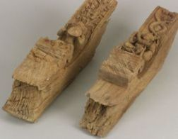Pair of Carved Hardwood Supports