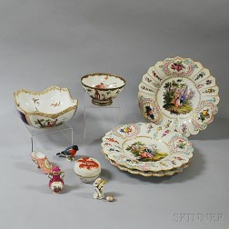 Ten Pieces of European and Asian Porcelain