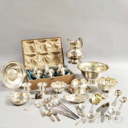 Approximately Thirty-seven Pieces of Mostly Sterling Silver Tableware