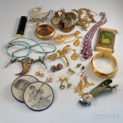 Group of Assorted Costume Jewelry and Accessories