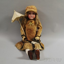 Large Kestner Bisque Socket Head Doll