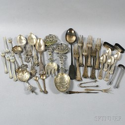 Group of Miscellaneous Mostly Sterling Silver Flatware
