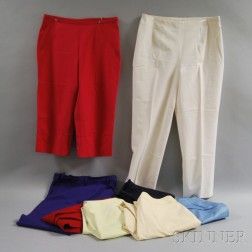 Eight Pairs of Cotton Slacks