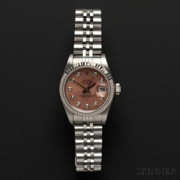 """Lady's Stainless Steel """"Oyster Perpetual Datejust"""" Wristwatch, Rolex"""