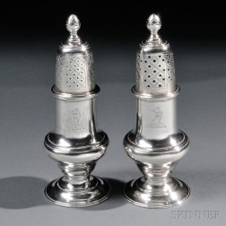 Pair of Paul Revere, Jr., Silver Casters