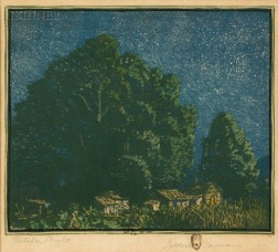Gustave Baumann (German/American, 1881-1971)      October Night