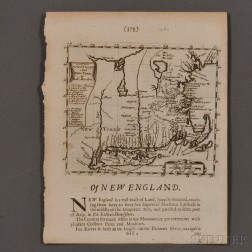 Early New England, Three Maps.