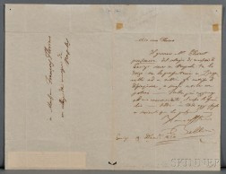 Bellini, Vincenzo (1801-1835) Autograph Letter Signed, 19 December 1834.