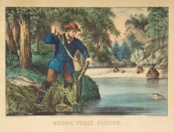 Currier & Ives, publishers (American, 1857-1907)    Brook Trout Fishing.