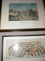 """Framed Prints """"Boston Symphony Orchestra"""" 1936 and """"Old Four Corners"""" New Bedford   1810"""