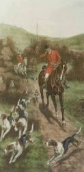 After Fores, publishers (British, 19th/20th Century)  Pair of Hunting Prints:  Gone Away
