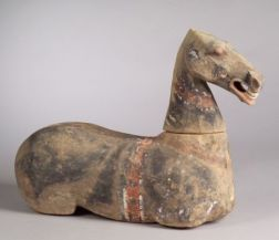 Pottery Figure of a Horse