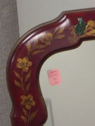 Queen Anne Style Chinoiserie Decorated Mirror.