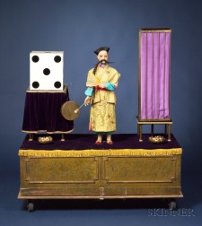 Rare Henry Phalibois Automaton of a Chinese Magician and Vanishing Assistant