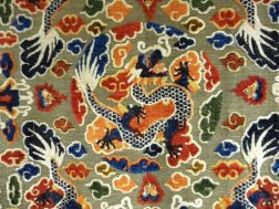 "Silk Pile and Metal Thread Chinese ""Imperial"" Carpet"