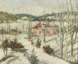 Canadian School, 20th Century  Road to Mont Tremblant