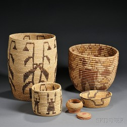Five American Indian Baskets