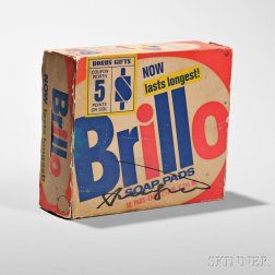 Andy Warhol (American, 1928-1987)      Signed Brillo Soap Pads Box