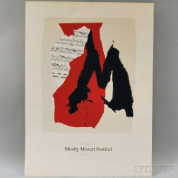 Robert Motherwell (American, 1915-1991)      Lincoln Center Mostly Mozart Festival, 25th Anniversary