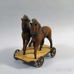 Cloth and Wood Horse Pull-toy