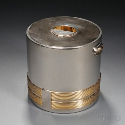 Gucci Silver Plate and Gilt-metal Ice Bucket with Lid