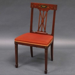 A.H. Davenport Neoclassical-style Mahogany Side Chair