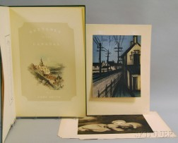European School, 19th/20th Century      Mixed Lot of Prints Including:    Bernard Buffet (French, 1928-1999), La route de village