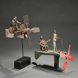 Two Figural Whirligigs