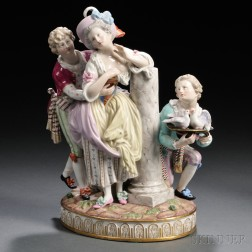 Meissen Porcelain Figural Courting Group