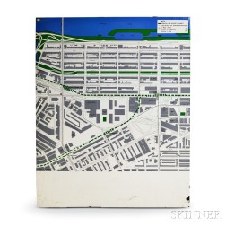 MBTA Enameled Prudential Neighborhood Map