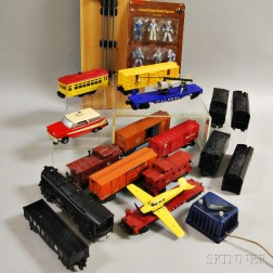 Fifteen Lionel Trains and Accessories