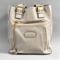 Mark Jacobs Gray Leather Purse